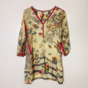 Johnny Was Silk Floral Dress. Size XS